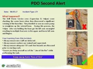 PDO Second Alert Date 08 05 17 Incident