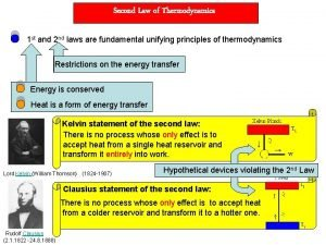 Second Law of Thermodynamics 1 st and 2