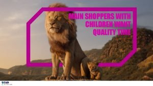 MAIN SHOPPERS WITH CHILDREN WANT QUALITY TIME MAIN