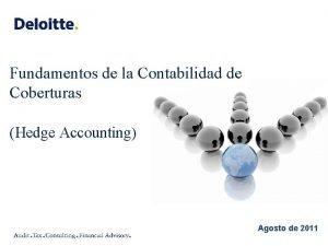 Fundamentos de la Contabilidad de Coberturas Hedge Accounting