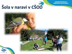 ola v naravi v COD COD javni zavod