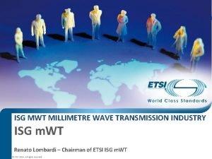 ISG MWT MILLIMETRE WAVE TRANSMISSION INDUSTRY ISG m