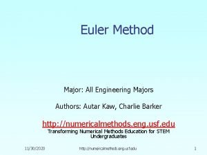 Euler Method Major All Engineering Majors Authors Autar