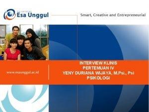 INTERVIEW KLINIS PERTEMUAN IV YENY DURIANA WIJAYA M