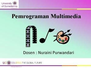 Pemrograman Multimedia Dosen Nuraini Purwandari OVERVIEW DOSEN Position