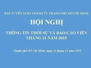BAN TUYN GIO THNH Y THNH PH H