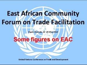 East African Community Forum on Trade Facilitation Kigali