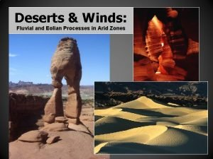 Deserts Winds Fluvial and Eolian Processes in Arid