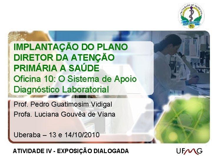 IMPLANTAO DO PLANO DIRETOR DA ATENO PRIMRIA A