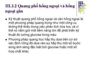 III 3 2 Quang ph hng ngoi v