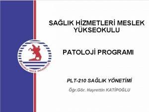 SALIK HZMETLER MESLEK YKSEOKULU PATOLOJ PROGRAMI PLT210 SALIK