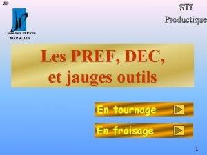 JLH Lyce Jean PERRIN MARSEILLE Les PREF DEC