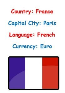 Country France Capital City Paris Language French Currency