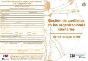 Gestin de conflictos en las organizaciones sanitarias 10