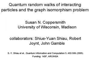 Quantum random walks of interacting particles and the