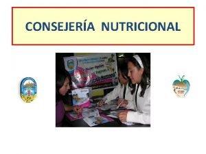 CONSEJERA NUTRICIONAL QU ES CONSEJERA Proceso educativo comunicacional