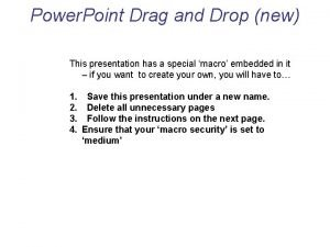 Power Point Drag and Drop new This presentation