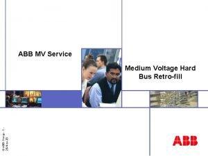 ABB MV Service ABB Group 1 28 Nov20