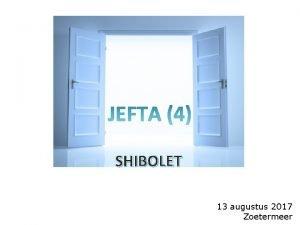 SHIBOLET 13 augustus 2017 Zoetermeer terugblik 1 ste