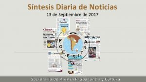 Sntesis Diaria de Noticias 13 de Septiembre de