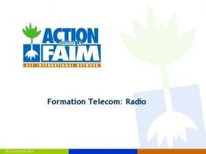 Formation Telecom Radio 03 December 2020 Telecom type