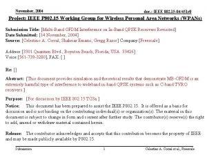 November 2004 doc IEEE 802 15 04451 r