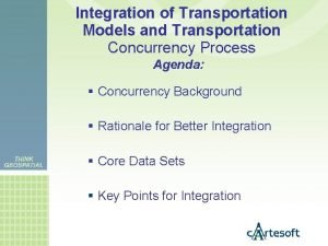 Integration of Transportation Models and Transportation Concurrency Process