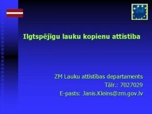 Ilgtspjgu lauku kopienu attstba ZM Lauku attstbas departaments