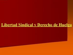 Libertad Sindical y Derecho de Huelga Libertad Sindical