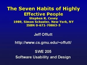 The Seven Habits of Highly Effective People Stephen