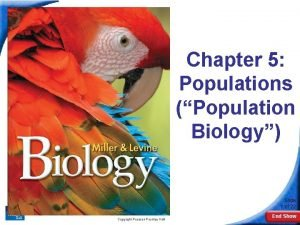 5 1 How Populations Grow Chapter 5 Populations