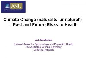 Climate Change natural unnatural Past and Future Risks