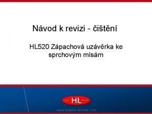 Nvod k revizi itn HL 520 Zpachov uzvrka
