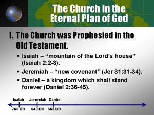 The Church in the Eternal Plan of God