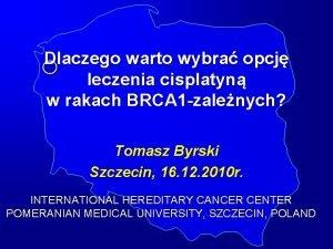 Dlaczego warto wybra opcj leczenia cisplatyn w rakach