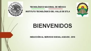 TECNOLGICO NACIONAL DE MXICO INSTITUTO TECNOLGICO DEL VALLE