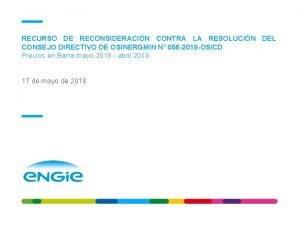 RECURSO DE RECONSIDERACIN CONTRA LA RESOLUCIN DEL CONSEJO