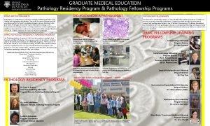 GRADUATE MEDICAL EDUCATION Pathology Residency Program Pathology Fellowship