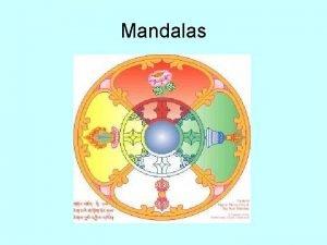 Mandalas What is a mandala Mandala is Sanskrit