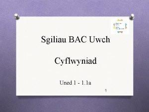 Sgiliau BAC Uwch Cyflwyniad Uned 1 1 1