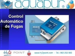 Control Automtico de Fugas AGUA STOP EL AGUA