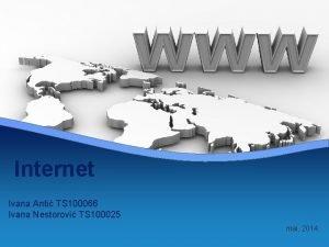 Internet Ivana Anti TS 100066 Ivana Nestorovi TS