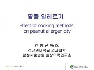 Introduction Peanut Allergy Lifelong often severe potentially fatal