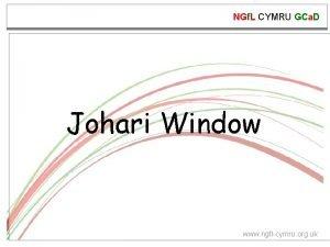NGf L CYMRU GCa D Johari Window www