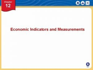 Economic Indicators and Measurements NEXT Chapter 12 Economic