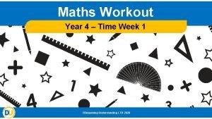 Maths Workout Year 4 Time Week 1 Deepening