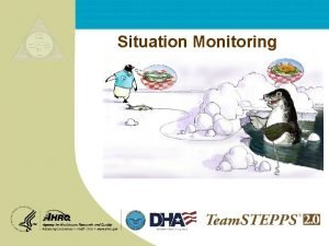 Situation Monitoring Situation Monitoring Teamwork Exercise 2 Mod