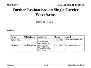March 2017 doc IEEE 802 11 170274 r