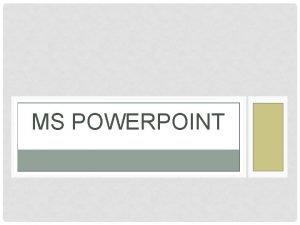 MS POWERPOINT KAKO POKREEMO POWERPOINT Start Izbornik Svi