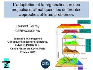 Ladaptation et la rgionalisation des projections climatiques les